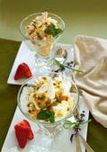 Meringue Desserts — Stock Photo