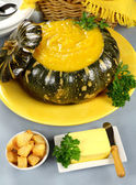 Pumpkin With Croutons — Stock Photo