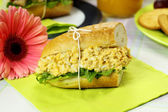 Curried Egg And Lettuce Roll — Stock Photo