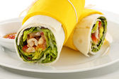 Spicy Chicken Wraps — Stock Photo