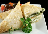 Spinach And Feta Parcels — Stock Photo