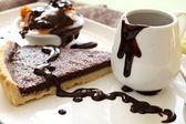 Tart Slice With Chocolate — Stock Photo