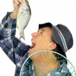 Eating Fish Fisherman — Stock Photo #11776832