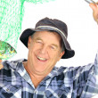 Proud Fisherman — Stock Photo