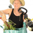 Clippings Gardener - Stock Photo