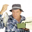 Stock Photo: Tackle Box Fisherman