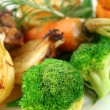 Broccoli And Baked Vegetables — Stock Photo