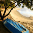 Stock Photo: Boat By Beach