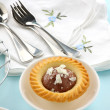 Chocolate Cream Tart — Stock Photo
