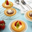 Cream And Chocolate Tarts — Stock Photo #11777960