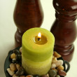 Candle And Grinders — Stockfoto