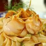 Fettucini With Scallops — Stock Photo #11778056