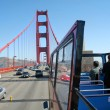 Bus Tour Golden Gate Bridge San Francisco CA — Stock Photo
