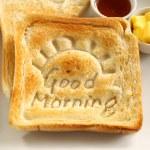 Good Morning Toast — Stock Photo