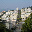 San Francisco From Lombard Street — Stock Photo