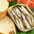 Sardines And Salad — Stock Photo