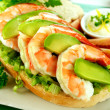 Shrimp And Avocado Sandwich — Stock Photo #11778704