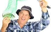 Hrdý rybář — Stock fotografie