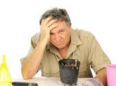 Distraught Nurseryman — Stock Photo