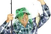 Pêcheur avec filet — Photo