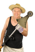 Gardener With Whipper Snipper — Stock Photo