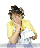Apathetic Housewife — Stock Photo