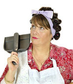 Dust Pan Housewife — Stock Photo