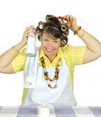 Hair Spray Housewife — Stock Photo