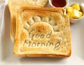Günaydın kızarmış ekmek — Stok fotoğraf