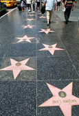 Hollywood Walk Of Fame — Stockfoto