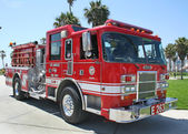 Los Angeles Fire Truck, Venice Beach, CA — Stock Photo