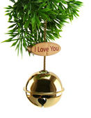 Love Xmas Bell — Stock Photo
