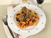 Polpette di carne e pasta — Foto Stock