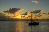 Old Ketch Sunrise — Stock Photo
