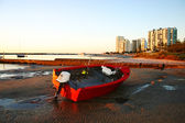 Red Dinghy — Stock Photo