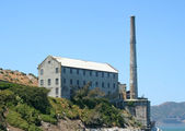 Ruins Of Alcatraz Smoke Stack And Power House — Stock Photo