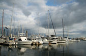 Cloudy Morning Marina — Stock Photo