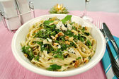 Spinach Fettucini — Stock Photo