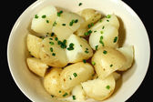 Steamed Potato And Chives — Stock Photo