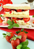 Strawberry Mille Feuille — Stock Photo