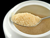 Sugar On Spoon — Stock Photo