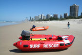 Surf Rescue Boats — Stock Photo