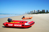 Surf resgate barcos gold coast austrália — Foto Stock