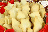 Xmas Shortbread Biscuits — Stock Photo