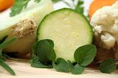 Zucchini And Oregano — Stock Photo