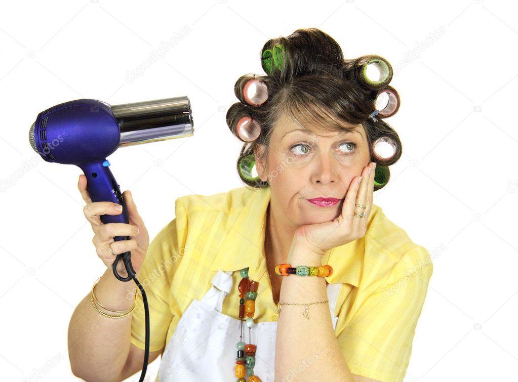 Frumpy Bored Housewife — Stock Photo © jabiru #11777583