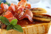 Bacon Banana Toast — Stock Photo