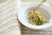Pesto Pasta — Stock Photo