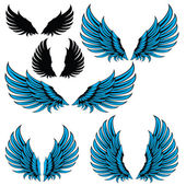 Wings blue — Stockvector