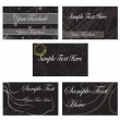 Business cards set of five — Stock Vector